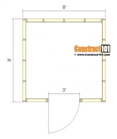 Shed Plans - Small Barn - Floor View 8x8 Shed, Prefabricated Sheds, Shed Sizes, Shed Base, Shed Construction, Shed Dormer, Clutter Solutions, Garden Tool Shed, Build Your Own Shed