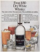 Frost 8/80 Whisky 1971 Ad Picture