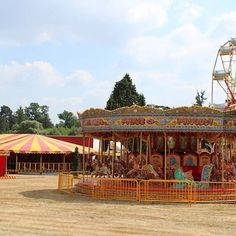 Vintage fair ground rides were kept a surprise for this couple's guests until after the wedding breakfast! Are fun fairs at weddings becoming the next big trend? Fair ground rides included a vintage carousal, ferris wheel and bumper cars. Country House Wedding Venues, Luxury Wedding Venues, Hedsor House, Georgian Mansion, Fun Fair, Wedding Breakfast, Ferris Wheel, Acre, Backdrops