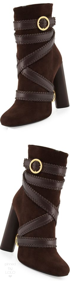 TOM FORD Belted Suede Ankle Boot   LOLO