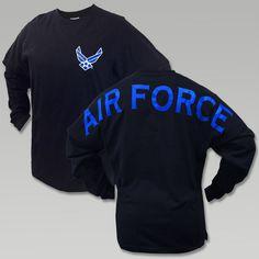 Air Force Wings Spirit Jersey T- Shirt