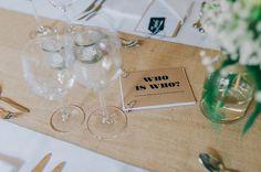 Unterhaltung Gäste auf Hochzeit mit Who is Who