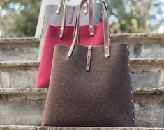 Tote Bag, Shopper Bag, borsa feltro, feltro Shopper, tracolla, borsa di feltro di lana, feltro borsa a tracolla, borsa tutti i