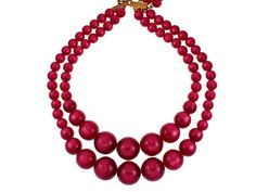1950s Lucite Necklace Cranberry Red by CarnabyVintageJewels, $24.00
