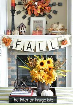 Scrabbling For Fall DIY Banner
