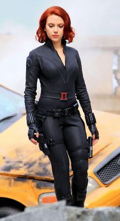 Scarlett Johansson as Black Widow in The Avengers movie
