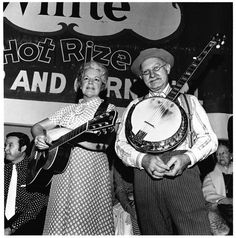 15 July 1974, Nashville, Tennessee. Grandpa Jones and his wife Ramona on the Grand Ole Opry. Image by (c) Henry Horenstein/Corbis