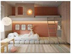 Modern Kids Bedroom, Kids Bedroom Designs, Room Design Bedroom, Home Room Design, Kids Room Design, Bed Design, Design Case, Bedroom Decor, Modern Room