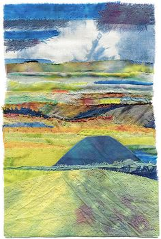 Silbury Hill textile art by Margaret M Roberts, via Flickr