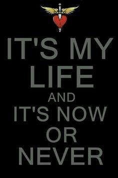 ☮ American Hippie Rock Music Lyrics ~ Bon Jovi It's My Life - song lyrics Jon Bon Jovi, Music Is Life, My Music, Beste Songs, Lyrics To Live By, Life Quotes Love, Change Quotes, Attitude Quotes, Frases Humor