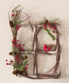 Look at this Cardinal Window Wreath on #zulily today!
