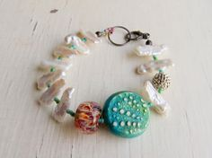 Deep Sea Diving handmade freshwater pearl and artisan by songbead