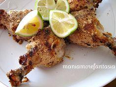 Un secondo leggero e molto semplice, il pollo al forno marinato al limone.