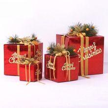 Multi Tamanho da Caixa de Presente de Natal Alegre Showcase Loja de Enfeites de Árvore de Natal Decoração de Natal de Doces Sólida Gif Caixa do Ofício de Papel(China (Mainland))