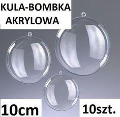 BOMBKA AKRYLOWA BOMBKI PLASTIKOWE kule 10cm 10szt