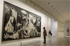 I stood in front of Guernica by Picasso at the Reina Sofia Museum in Madrid Spain for a good half hour just taking in how breath taking it is.
