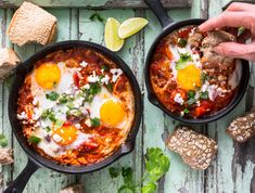 Eggs in Tomato Sauce Recipe Poached Eggs Shashuka Recipe Protein Packed Breakfast, Best Breakfast, Mexican Breakfast, Breakfast Pizza, Breakfast Bowls, Breakfast Recipes, Tomato Sauce Recipe, Stuffed Peppers, Breakfast And Brunch