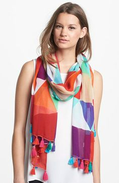 kate spade new york 'pueblo tile' scarf available at #Nordstrom