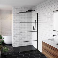 Choose from a massive range of shower enclosures! From quadrant shower cubicles & bifold shower units to frameless shower doors & even more for wet rooms! Wet Room Bathroom, Simple Bathroom, Bathroom Interior, Bathroom Island, Bathroom Inspo, Modern Bathroom, Master Bathroom, Bathroom Ideas, Walk In Shower
