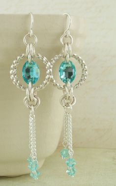 Crystal Maille earrings