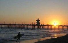 Hilton Waterfront Beach Resort Hotel, Huntington Beach, CA - Huntington Beach Pier at Sunset