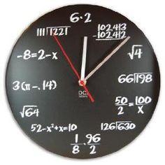 Algebra clock