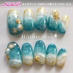 DIY nail art which look gorgeous! DIY nail art which look gorgeous! Nail Art Vernis, Gel Nail Art, Nail Art Diy, Nail Nail, Beach Nail Art, Beach Nail Designs, Seashell Nails, Sea Nails, Manicure