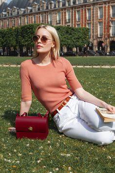 SAC ADÈLE BORDEAUX Adele, Bordeaux, White Jeans, Kawaii, Style Inspiration, Paris, Fashion, Montmartre Paris, Moda