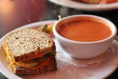 Soup and sandwich - perfect lunch break