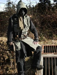 Apocalypse Cosplay Coats  Apocalypse Cosplay Costume Male Coat Apocalypse Cosplay Outfit Nomad Cosplay Recycled  Reclaimed Fabrics
