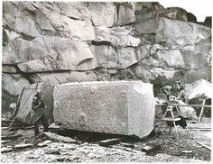 The stone for the Sydney Cenotaph at Moruya Quarry NSW 1920