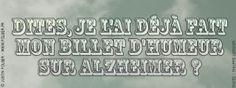 Alzheimer © France Inter - 2013 / Justin Folger.