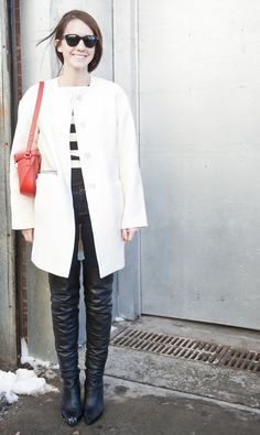 over the knee boots makes legs for days #nyfw #streetstyle #7LooksFallChallenge