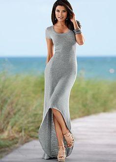 [Pin It] Add to Wishlist        U-Neck High Low Hem Dress $34  blk