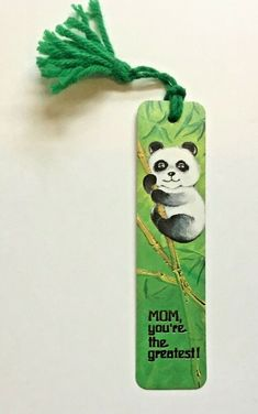 Vintage Antioch Bookmark Mom, You're the Greatest! 1976 Panda Cute Best #Antioch Vintage Bookmarks, Unicorn And Fairies, American Gothic, Panda Bear, Free Items, Vintage Signs, Mom, Christmas Ornaments, Holiday Decor