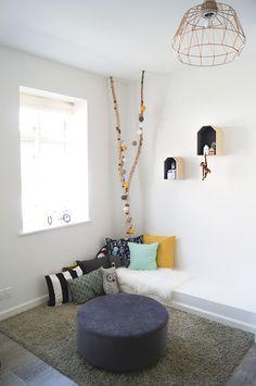kidsroom, pillows, reading corner, trees with happy lights, scandinavian, scandistyle, interior Decor, Pillows, Happy Lights, Kidsroom, Home Decor Decals, Home, Interior, Home Decor, Lights