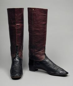 Men's Dress Boots 1845 The Los Angeles County Museum of Art Victorian Men, Victorian Fashion, Victorian Boots, Spectator Shoes, Safari, Wellington Boot, Antique Clothing, Dress With Boots, Waterproof Boots