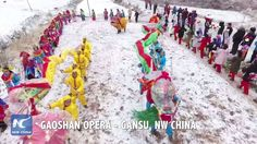 A special parade with people's best wishes for the #newyear is held in northwest China's Gansu Province. The parade is a part of Gaoshan Opera, a Chinese local art form with a history of 700 years.