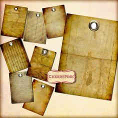 VINTAGE PAPER Grunge paper digital collage sheet ~ on deviantART
