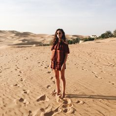 "Eleonora Carisi on Instagram: ""Feeling the warm sand of Liwa before the sunset  #abuDhabi #QarsAlSarab"""