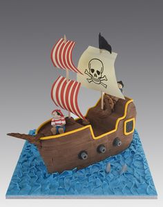 Pirates Ship Cake by Gellyscakes, via Flickr