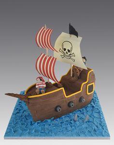 Pirates Ship Cake