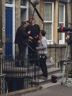 James Norton filming Grantchester 3 in Cambridge Twitter