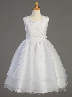 Embroidered Organza Communion Dress LT-SP930