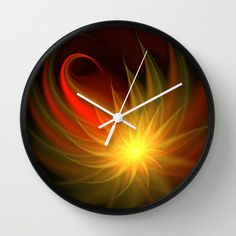 Exotic Flower Wall Clock