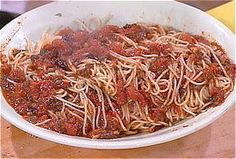 Pasta Puttanesca recipe from Rachael Ray via Food Network