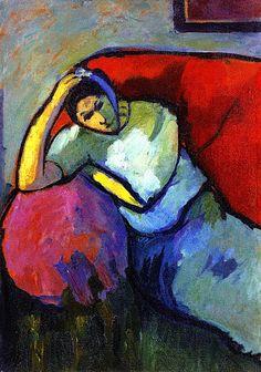 Sitting Woman Alexei Jawlensky - circa 1909