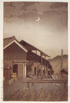 hanga gallery . . . torii gallery: Seto, Bishu by Kawase Hasui