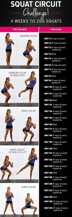 Free Fitness Challenge - REPIN to JOIN or CLICK link below #free #challenge #fitness #squat