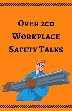A useful link for any professional who has to give toolbox talks or safety talks at work!
